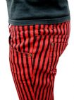 Ronnie - Super Skinny Jeans (red & black stripe)